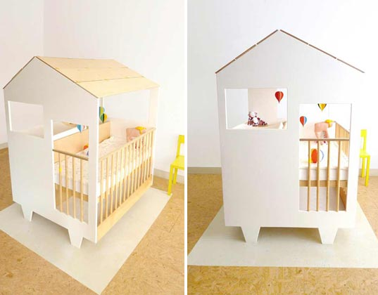 This Sweet Little House Combines A Crib, Playpen, Dresser And Changing  Station To Streamline All Of The Necessities That Baby Requires Upon  Homecoming U2013 And ...