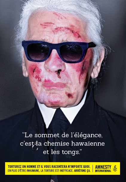 Karl Lagerfield Amnesty International