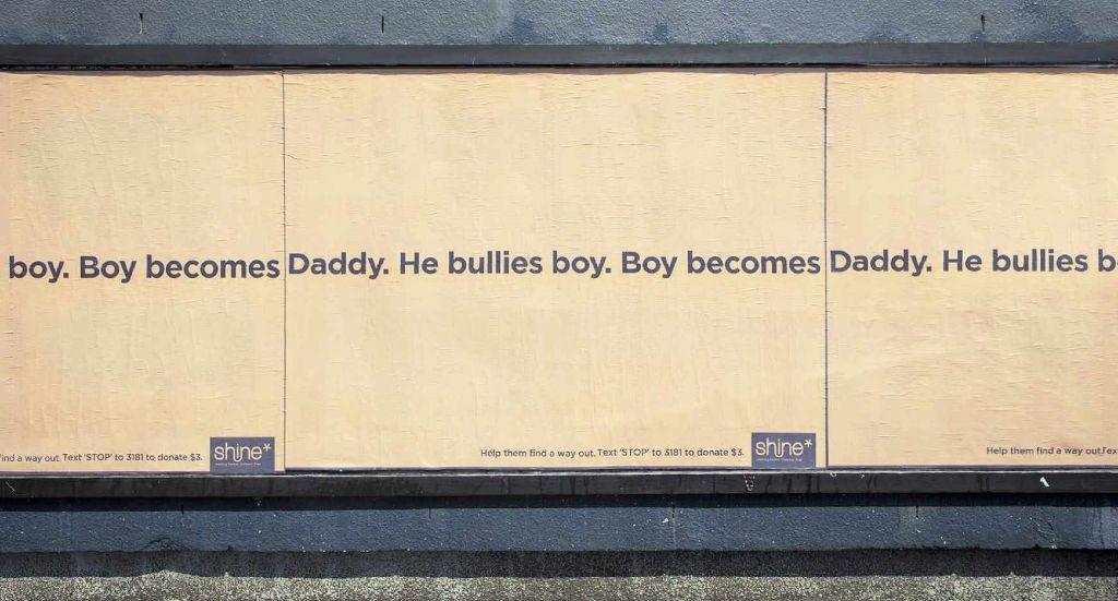 Daddy bullies boy.